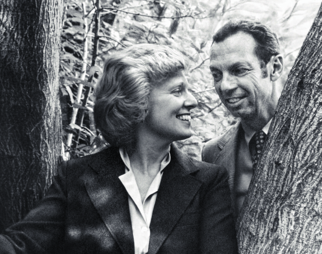 "Irene and Abe Pollin on the cover of Irene Pollin's memoir ""An Unexpected Life."""