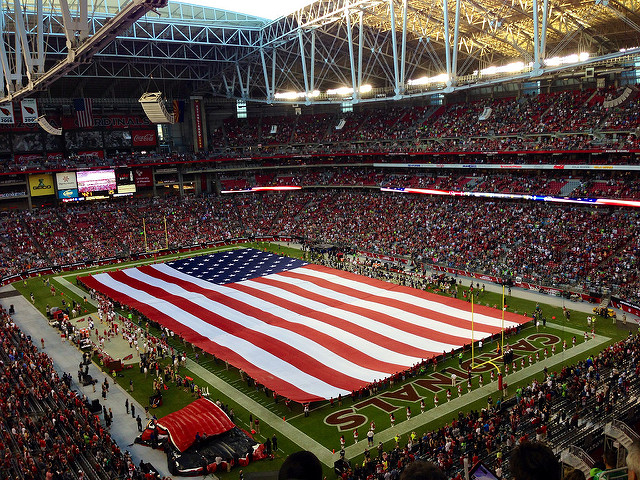 The National Anthem played at this game between the Arizona Cardinals and the Seattle Seahawks in 2013.