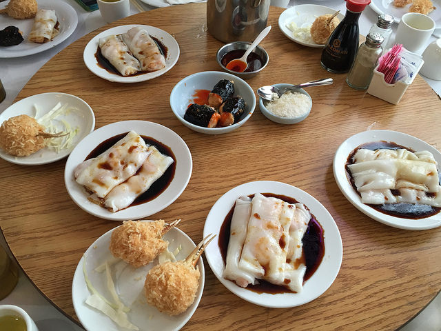 Dim sum at Fortune Restaurant, in Seven Corners, Va., for the Chinese New Year.