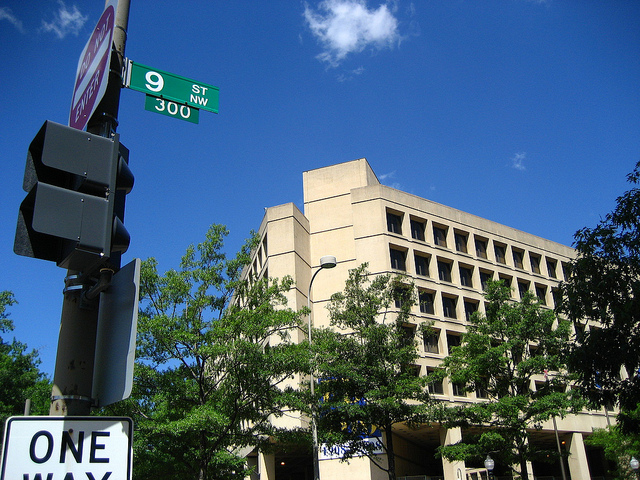 The FBI headquarters in downtown D.C.