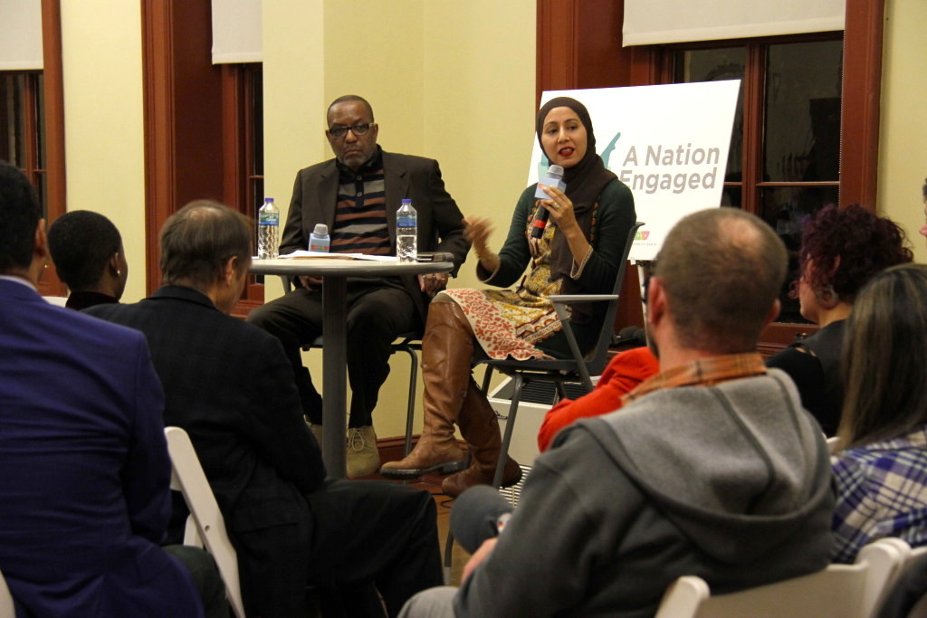 Kojo Nnamdi and NPR's Asma Khalid at the Hill Center.