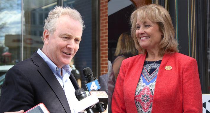 Democrat Chris Van Hollen and Republican Kathy Szeliga.