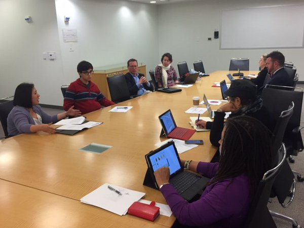 The D.C. State Board of Education in a working session.