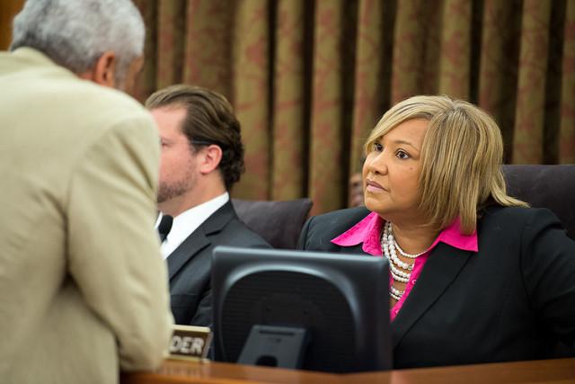 Councilmember Yvette Alexander during a 2013 D.C. Council meeting.