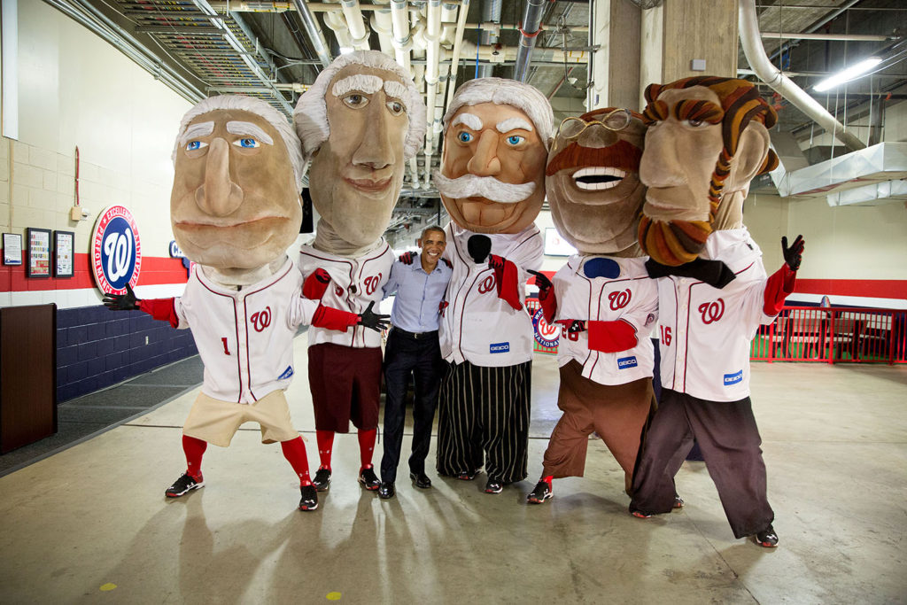 Barack Obama and the Racing Presidents at Nationals Park
