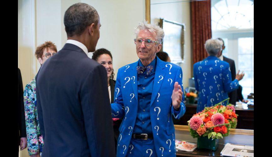 Obama and Matthew Lesko