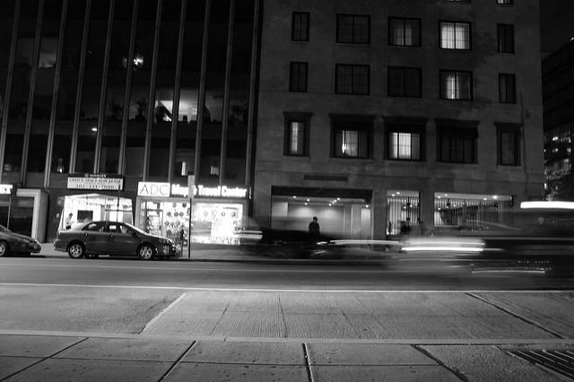 D.C.'s Farragut Square night.