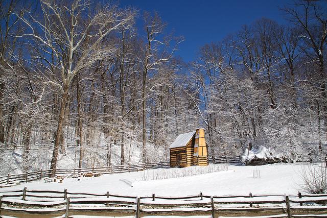 A slave cabin at George Washington's Mt. Vernon estate.