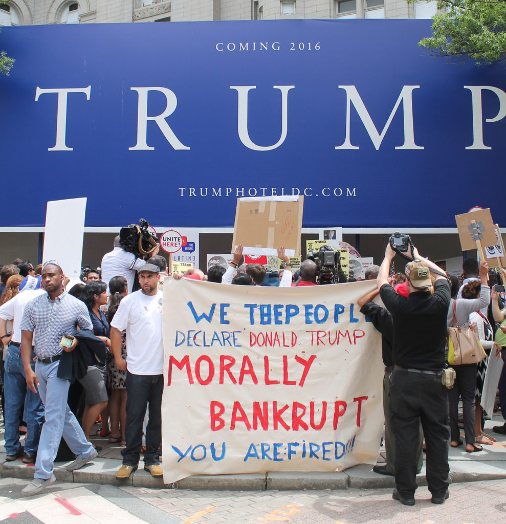 A 2015 rally at the Trump Hotel in downtown D.C.