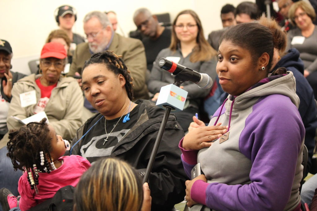 Washingtonians speak at the Dorothy I. Height Library in D.C.