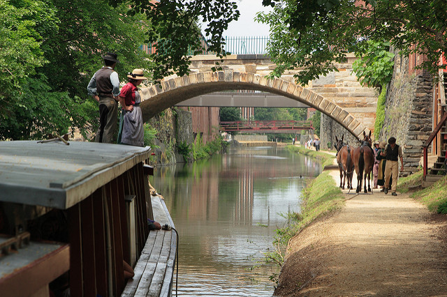 The C&O Canal in Georgetown