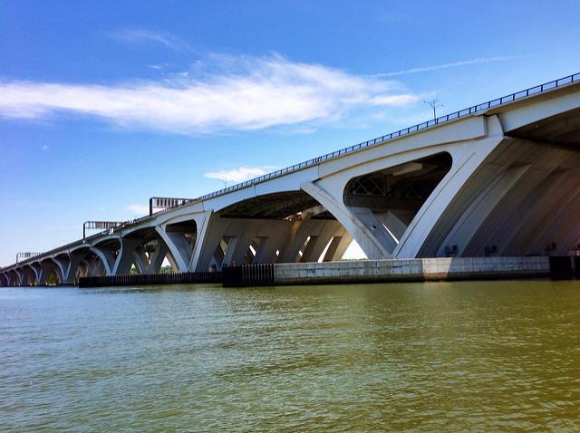 Woodrow Wilson Bridge as seen from Jones Point Park in Alexandria, Va.
