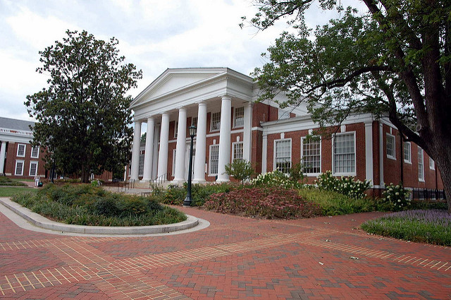 University of Virginia's admissions office at Peabody Hall.