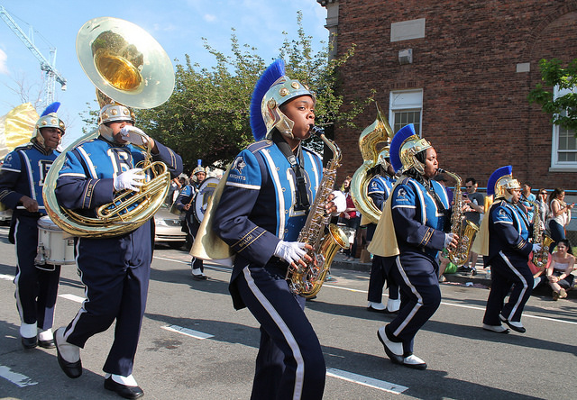 Ballou students performing in the 2014 Funk Parade