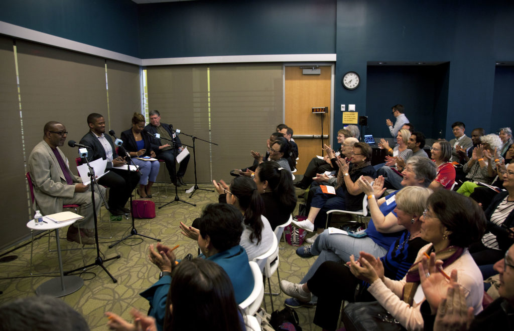 The crowd at the Silver Spring Library on May 9, 2017.