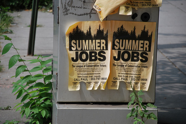 Flyers for summer jobs