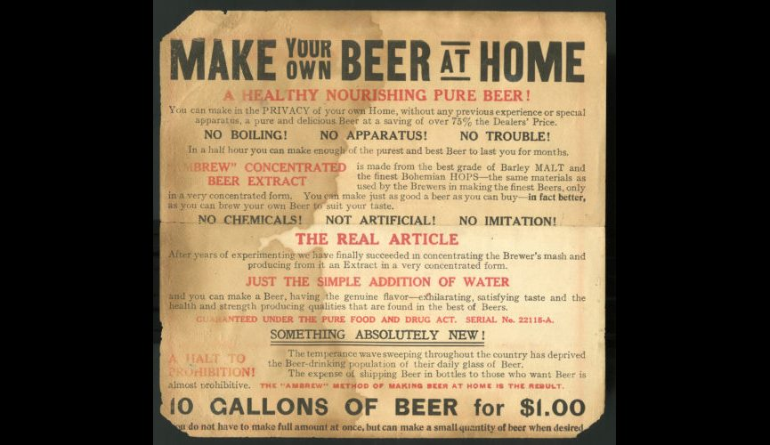 Make Your Own Beer ad