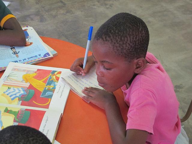 Child studying