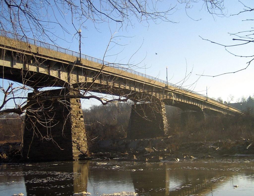 The Chain Bridge over the Potomac River