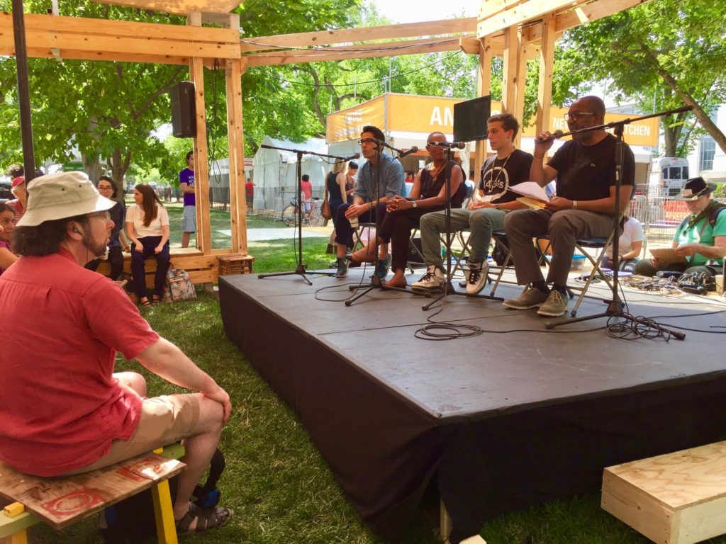Kojo Nnamdi in the Story Circle at the 2017 Smithsonian Folklife Festival