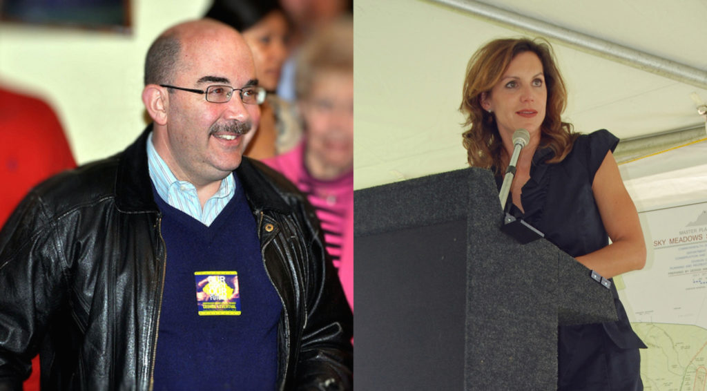 Montgomery County Councilmember George Leventhal is a Democrat running for County Executive (left). Virginia State Senator Jill H. Vogel is a Republican running for Lt. Governor (right).