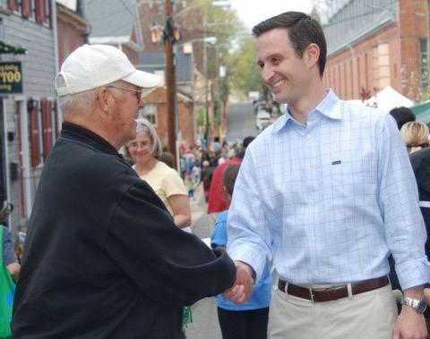 Virginia Republican Party Chairman John Whitbeck (right).