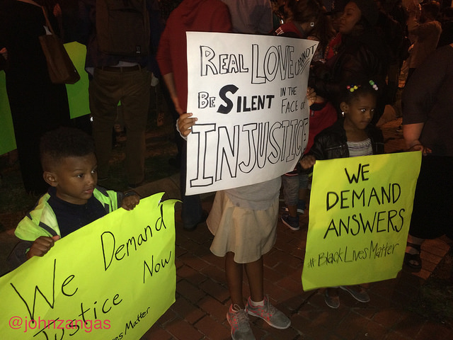 Washingtonians march to bring awareness and judicial inquiry to the Terrence Sterling case.