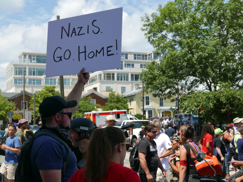 A white supremacist rally in Charlottesville, Va. on August 12, 2017 attracted counter-protesters.