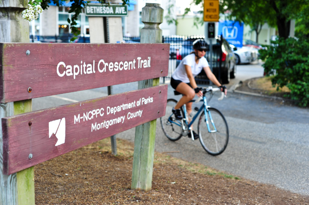 The bicycling community is divided over whether motorized bicycles should be permitted on local trails like the Capital Crescent Trail.