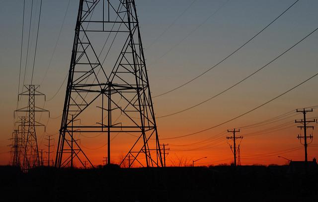 Power lines in Springfield, Va.