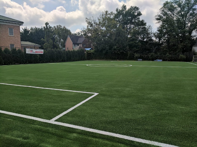 Newly installed turf field at Janney Elementary in NW D.C.