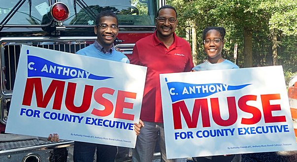 Md. State Sen. C. Anthony Muse (center).