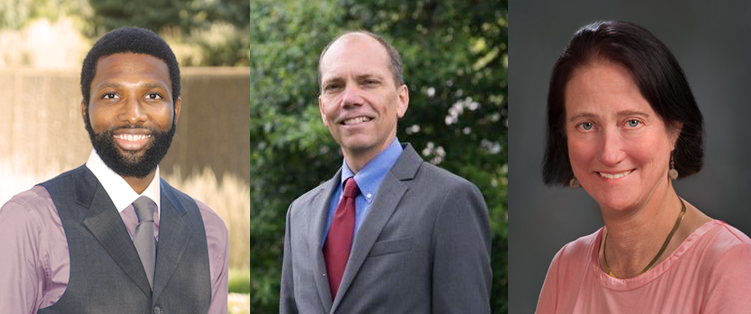 Charles McCullough II, Erik Gutshall and Audrey Clement (l-r) are running for an open seat on Arlington's County Board.