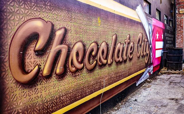 Chocolate City mural, 14th Street, Washington, D.C.