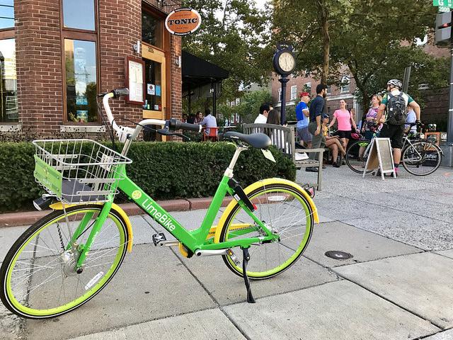 Dockless bike parked in Washington, D.C.