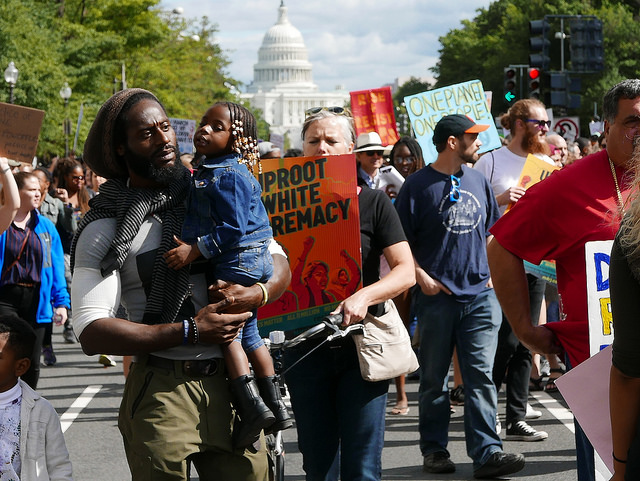 A joint March for Racial Justice and March for Black Women in Washington, D.c. on September 30, 2017.