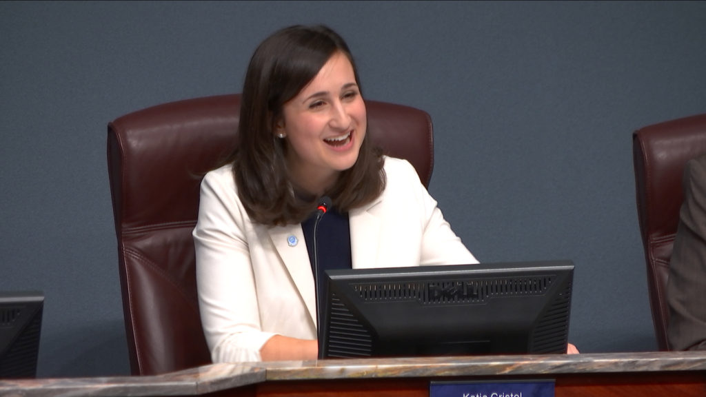 Arlington County Board Chair Katie Cristol