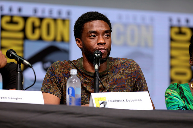 """Black Panther"" actor Chadwick Boseman at the 2017 San Diego Comic Con."