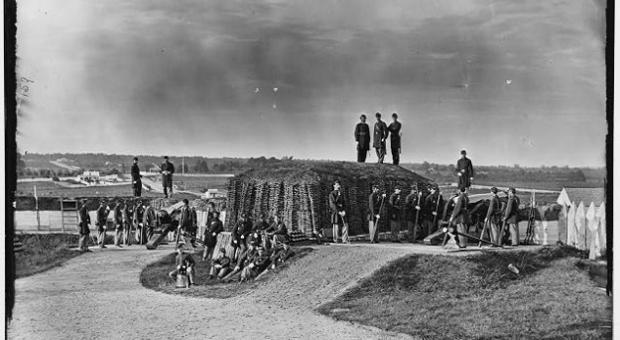 Co. K 3rd Mass. Heavy Artillery, Fort Stevens in Washington, D.C., during the American Civil War.
