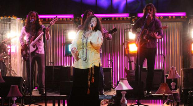 """Mary Bridget Davies as Janis Joplin in the Cleveland Play House production of """"One Night with Janis Joplin"""" written and directed by Randy Johnson, which comes to Arena Stage at the Mead Center for American Theater September 28-November 4, 2012."""