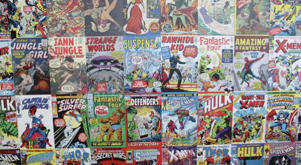 Comic books at the L.A. County Fair 2012 in Pomona, Calif.