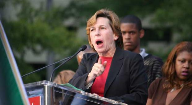 AFT President Randi Weingarten at the Washington Teachers Union Rally for Respect in 2009.