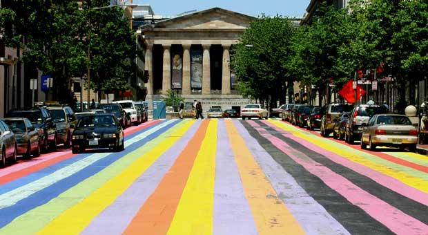 In May 2007, the D.C. Commission on the Arts and Humanities collaborated with the Corcoran to recreate a 1987 project as an homage to Gene Davis.