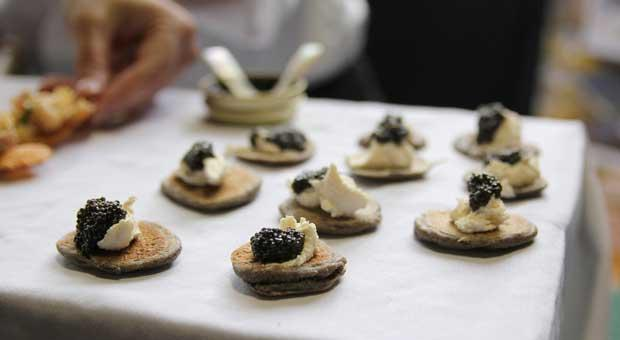 Sturgeon Caviar, Creme Fraiche and Blini