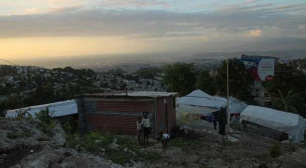 A view of Port-au-Prince, Haiti, at sunset from a hilltop camp in November 2010.