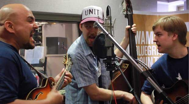Frank Solivan & Dirty Kitchen performing on The Katy Daley Show at WAMU's Bluegrass Country in May 2012.