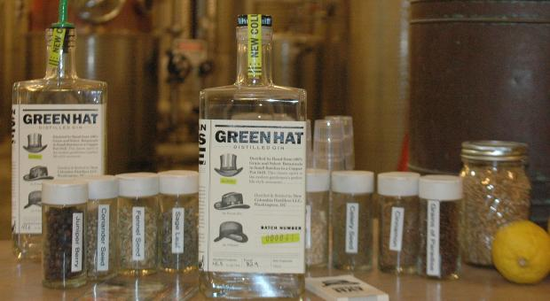 Green Hat Gin is produced by New Columbia Distillers in Washington, D.C.