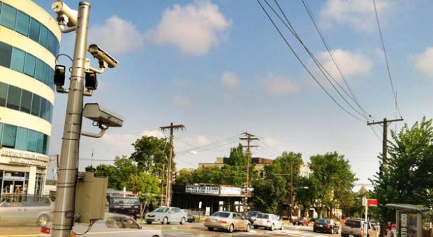 Traffic cameras on Wisconsin Avenue Northwest, Washington, D.C.